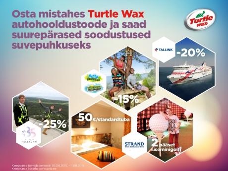 Turtle Waxi autohooldustoodete kampaania